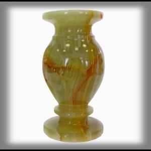 Onyxo Váza 5 x 10 cm - Zelený onyx
