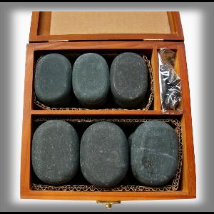 Salts Masážní lávové kameny BOX Sada 23 ks