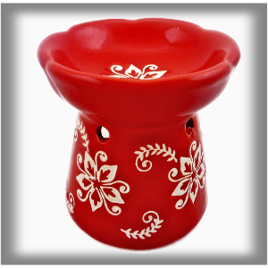 Cerams Aroma lampa červená rustical 10 cm