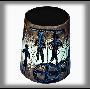 Cerams Aroma lampa Modrá - Afrika 10 cm