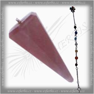 Salts Kyvadlo s čakrovým řetízkem Růženín 3 cm