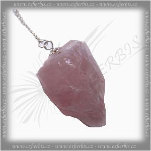Salts Kyvadlo štípaný kámen Růženín 4 cm