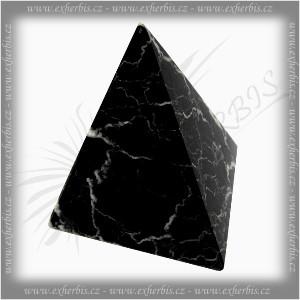 Onyxo Pyramida černá black onyx 7,5 cm