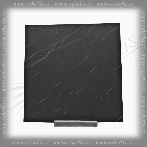 Salts Šungit dlaždička 10x10 x1 cm neleštěná