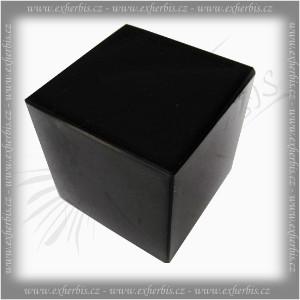 Salts Šungit kostka 4x4x4 cm leštěná