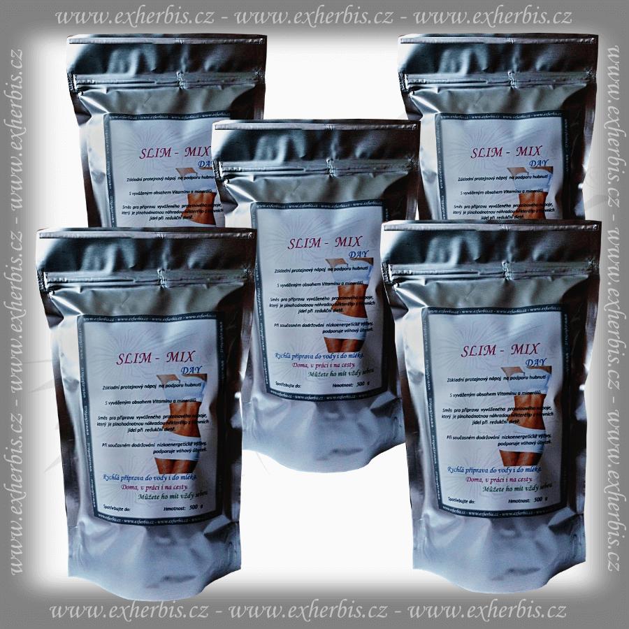 SLIM - MIX DAY Proteinový nápoj 5 x 500 g