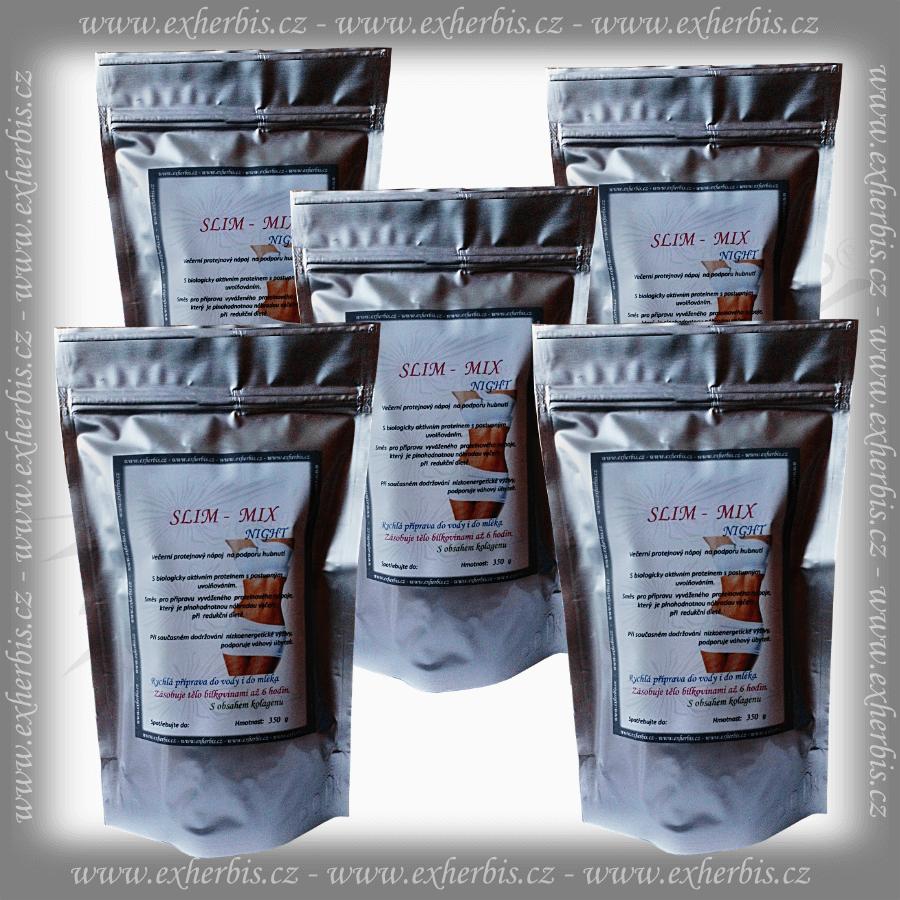 SLIM - MIX NIGHT Proteinový nápoj 5 x 350 g